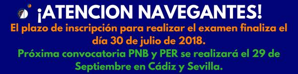 Información del plazo de inscripción para los cursos PNB Y PER.