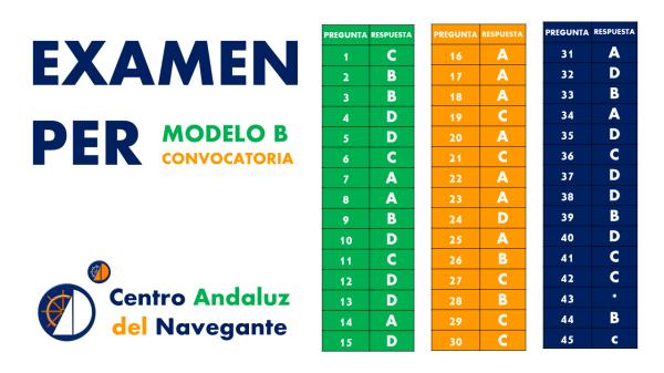 Examen PER respuestas Centro Andaluz del Navengante