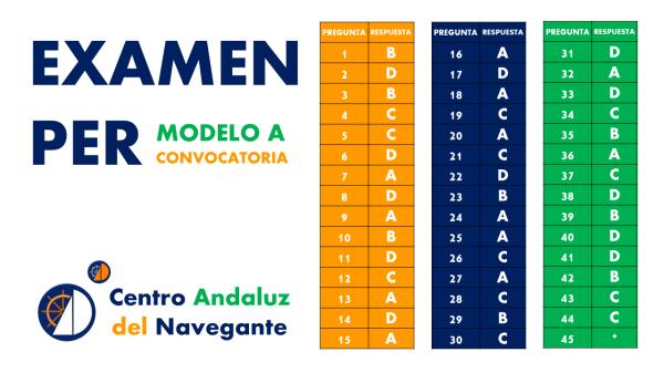 Examen PER Modelo A Centro Andaluz del Navegante